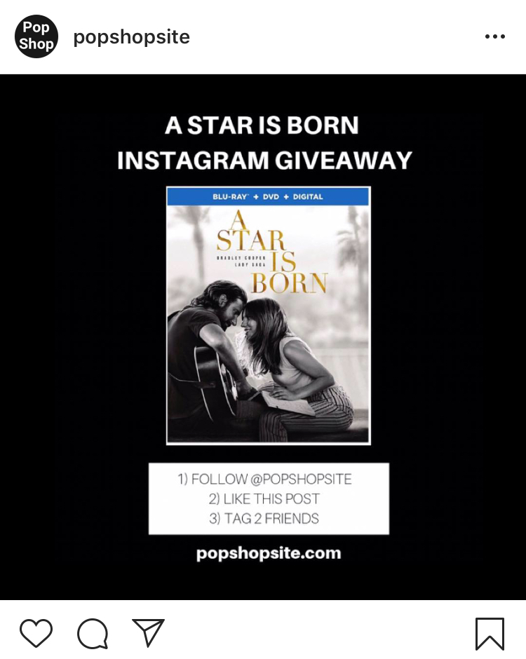'A Star Is Born' Instagram Giveaway