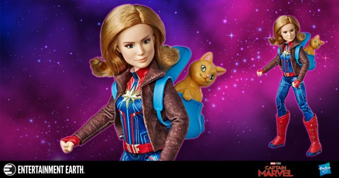 Captain Marvel Adventure Doll and Marvel's Goose Cat