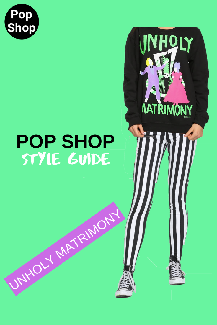Pop Shop Style Guide: Unholy Matrimony, Beetlejuice Inspired Outfit