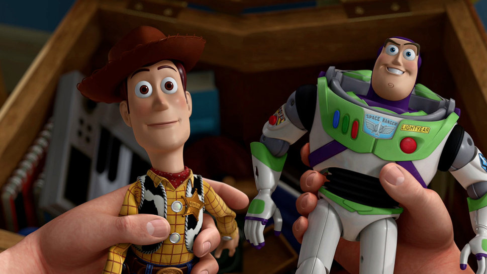 Interactive Woody and Buzz Dolls That Drop on Command