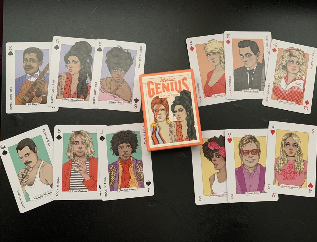 Music Genius Playing Cards -- Pop Shop