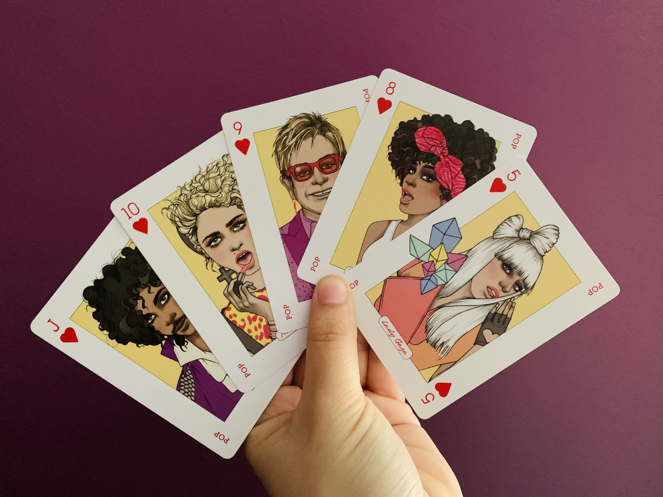 Music Genius Playing Cards: Five Hearts for This Deck!