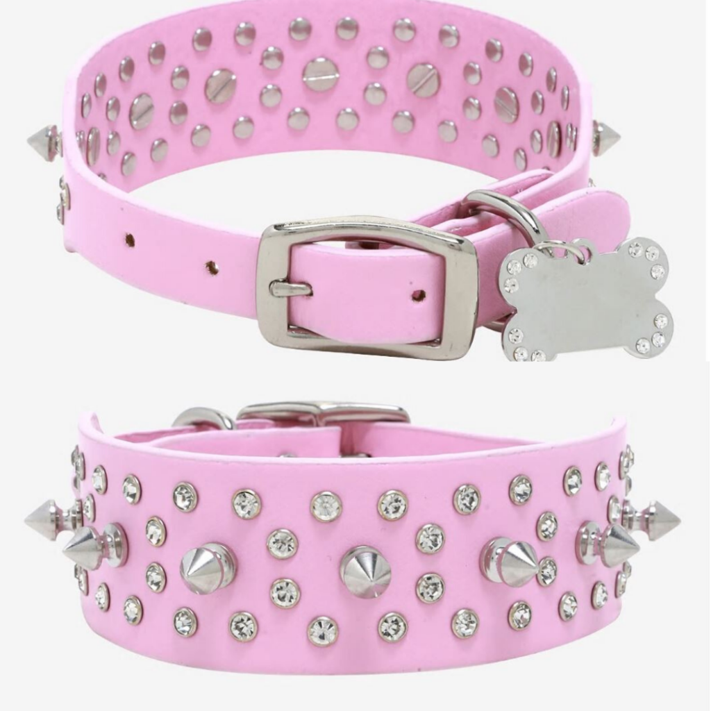 Birds of Prey Pink Studded Pet Collar- Hot Topic- Pop Shop