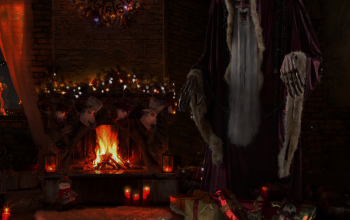 Krampus Animatronic: The Perfect Decoration for a Spooky Christmas Theme